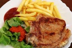 Costeleta de carne de porco Fotografia de Stock