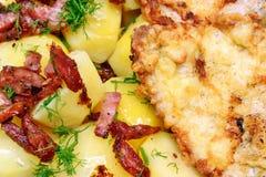 Costeleta de carne de porco com batatas Imagem de Stock