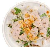 Costeleta de carne de porco com envolvimento de rolos do arroz imagem de stock