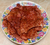Costeleta de carne de porco com especiarias Fotografia de Stock Royalty Free