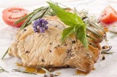 Costeleta de carne de porco com hortelã Imagens de Stock Royalty Free
