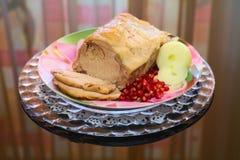 Costeleta de carne de porco cozida no forno Imagens de Stock