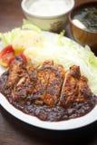 Costeleta de carne de porco do estilo japonês Imagens de Stock