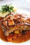 Costeleta de carne de porco do gourmet fotografia de stock royalty free