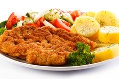 Costeleta de carne de porco fritada Foto de Stock