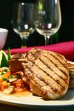 Costeleta de carne de porco grelhada Fotos de Stock Royalty Free