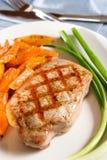 Costeleta de carne de porco grelhada Imagem de Stock