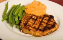 Costeleta de carne de porco grelhada Imagens de Stock Royalty Free