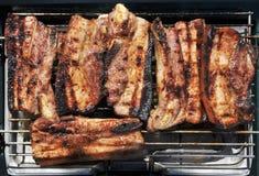 Costeleta de porco magra no assado Imagens de Stock