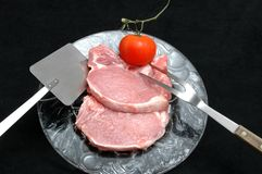 Costeletas de carne de porco Fotos de Stock Royalty Free