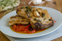 Costeletas de carne de porco Foto de Stock Royalty Free
