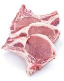 Costeletas de carne de porco Fotografia de Stock
