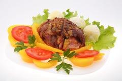 Costeletas de carne de porco enchidas Imagem de Stock
