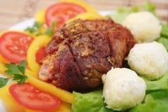 Costeletas de carne de porco enchidas Imagens de Stock