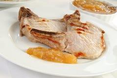 Costeletas de carne de porco suculentas Foto de Stock