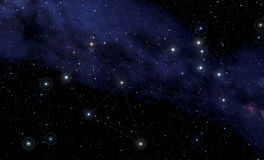 Costellations of Cassiopeia  and  Cepheus Royalty Free Stock Photography
