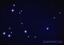Costellazione della stella del draco Fotografia Stock Libera da Diritti