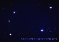 Costellazione di Microscopium Fotografia Stock