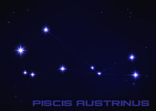 Costellazione di Piscis Austrinus Fotografie Stock Libere da Diritti