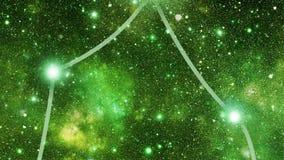 Costellazione Ophiuchus (Oph) video d archivio