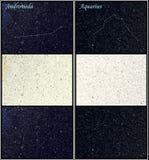 Costellazioni del Aquarius e del Andromeda Fotografia Stock Libera da Diritti