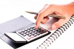 Costes calculadores foto de archivo libre de regalías