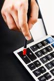 Costes calculadores Fotografía de archivo libre de regalías