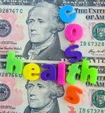 Costes de cuidado médico en los E.E.U.U. Foto de archivo libre de regalías