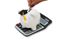 Costes de educación calculadores fotografía de archivo libre de regalías
