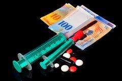 Costes de la atención sanitaria en Suiza Imágenes de archivo libres de regalías