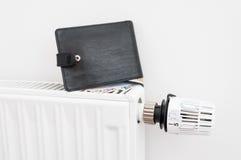 Costes de la calefacción fotos de archivo libres de regalías