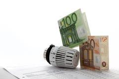 Costes de la calefacción fotografía de archivo