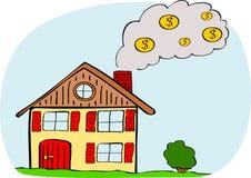 Costes de la calefacción Imagen de archivo libre de regalías