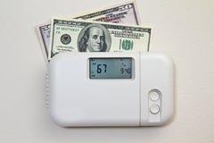 Costes de la calefacción casera Imágenes de archivo libres de regalías