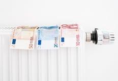 Costes de la calefacción costosos fotografía de archivo libre de regalías