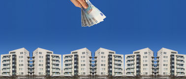 Costes de las propiedades inmobiliarias Imagen de archivo