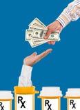Costes de levantamiento del cuidado médico Imágenes de archivo libres de regalías