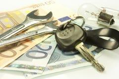Costes de mantenimiento de un coche Foto de archivo