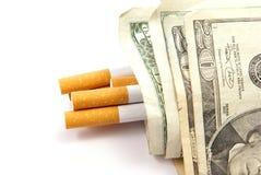 Costes del cigarrillo Foto de archivo libre de regalías
