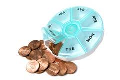 Costes del cuidado médico Fotos de archivo