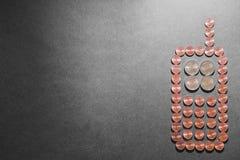 Costes del teléfono móvil Imagen de archivo libre de regalías