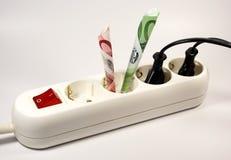 Costes energéticos Fotos de archivo libres de regalías