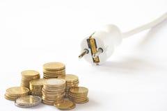 Costes energéticos Imagen de archivo libre de regalías