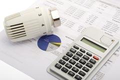 Costes energéticos Imágenes de archivo libres de regalías