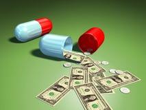 Costes médicos Imagen de archivo libre de regalías