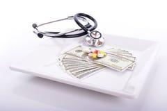 Costes médicos Foto de archivo libre de regalías