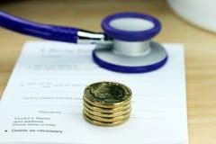 Costes púrpuras de la salud Imagen de archivo