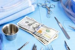 Costes quirúrgicos Imagen de archivo libre de regalías