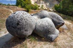 Costesti Trovants -罗马生活和生长石头  库存照片