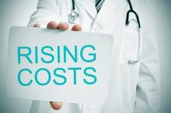 Costi crescenti medici Fotografia Stock Libera da Diritti